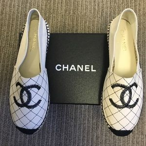 ❌sold❌NIB Chanel Fabric Biarritz Espadrilles